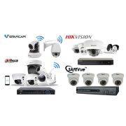 2 MP-es 4 kamerás FULL HD IP POE Kamerarendszer kiépítéssel, telepítéssel.