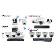 4 MP-es 4 kamerás FULL HD IP Kamerarendszer kiépítéssel, telepítéssel.