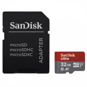 Sandisk 32GB microSDHC Ultra UHS-I A1 + adapterrel