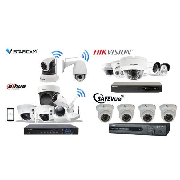 5MP-es 4 kamerás FULL HD IP Kamerarendszer kiépítéssel, telepítéssel.