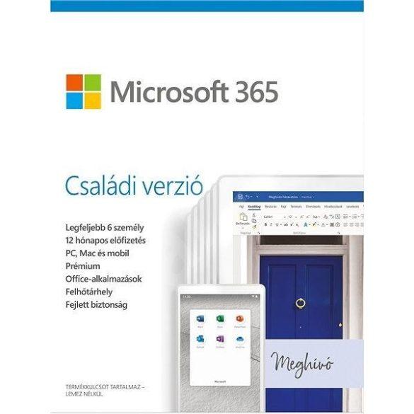 Microsoft Office 365 Family 6 Felhasználó 1 Év HUN BOX
