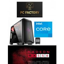PC FACTORY INTEL_11.Gen_08(Intel Core i5-10400F/16GB DDR4/480GB SSD/RX 550 2GB DDR5)